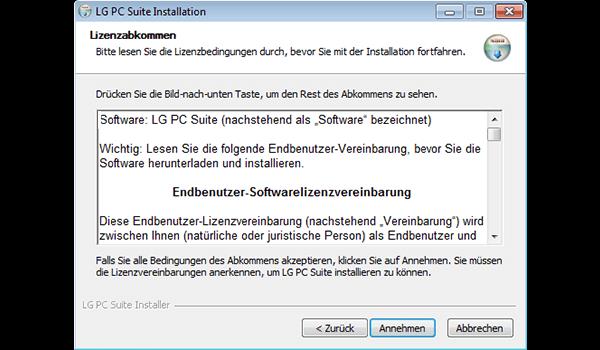 LG D955 G Flex - Software - Installieren von Software zur PC-Synchronisierung - Schritt 7