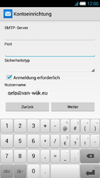 Alcatel One Touch Idol S - E-Mail - Manuelle Konfiguration - Schritt 18