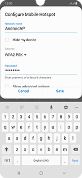 Samsung Galaxy A50 - WiFi - How to enable WiFi hotspot - Step 10