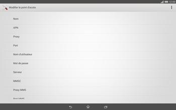 Sony Xperia Tablet Z2 LTE - MMS - Configuration manuelle - Étape 9