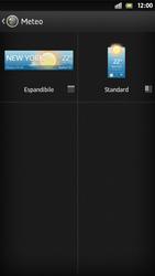 Sony Xperia S - Operazioni iniziali - Installazione di widget e applicazioni nella schermata iniziale - Fase 6