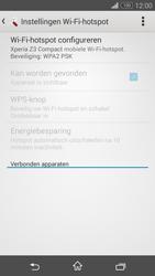 Sony Xperia Z3 Compact 4G (D5803) - WiFi - Mobiele hotspot instellen - Stap 7