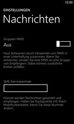 Nokia Lumia 925 - SMS - Manuelle Konfiguration - Schritt 8