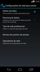 Motorola Moto E (1st Gen) (Kitkat) - Rede móvel - Como ativar e desativar uma rede de dados - Etapa 6