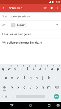 Motorola Google Nexus 6 - E-Mail - E-Mail versenden - Schritt 9