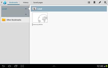Samsung N8000 Galaxy Note 10-1 - Internet - Internet browsing - Step 4