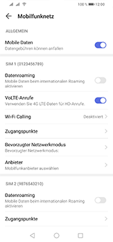 Huawei P30 Lite - WiFi - WiFi Calling aktivieren - Schritt 6