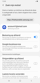 Samsung Galaxy S8+ - Android Pie (SM-G955F) - Beveiliging en ouderlijk toezicht - Zoek mijn mobiel inschakelen - Stap 7