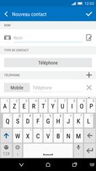 HTC One M9 - Contact, Appels, SMS/MMS - Ajouter un contact - Étape 6