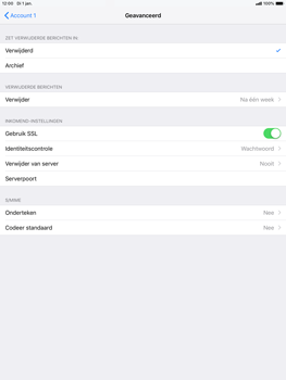 Apple ipad-air-10-5-inch-2019-model-a2123 - E-mail - Handmatig instellen - Stap 23