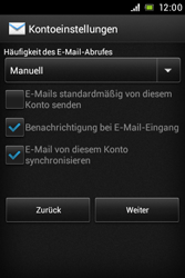 Sony Xperia E - E-Mail - Konto einrichten - Schritt 15