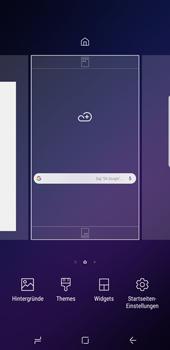 Samsung Galaxy S9 Plus - Startanleitung - Installieren von Widgets und Apps auf der Startseite - Schritt 3