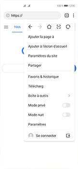 Huawei P40 - Internet et connexion - Naviguer sur internet - Étape 10