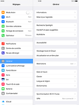 Apple iPad mini 4 iOS 10 - Wifi - configuration manuelle - Étape 2
