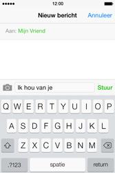 Apple iPhone 4 S iOS 7 - MMS - Afbeeldingen verzenden - Stap 7
