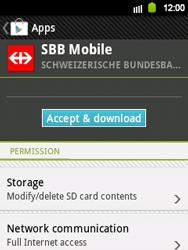 Samsung Galaxy Y - Applications - Installing applications - Step 20