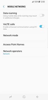 Samsung Galaxy S8 - Internet and data roaming - Disabling data roaming - Step 7