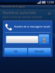 Sony Ericsson Xperia X10 Mini - Messagerie vocale - configuration manuelle - Étape 6