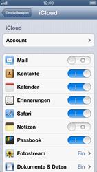 Apple iPhone 5 - Apps - Konfigurieren des Apple iCloud-Dienstes - Schritt 8