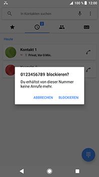 Sony Xperia XZ2 Premium - Anrufe - Anrufe blockieren - Schritt 6