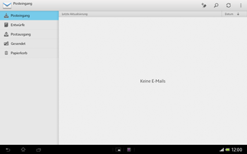 Sony Xperia Tablet Z LTE - E-Mail - Manuelle Konfiguration - Schritt 4