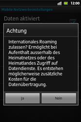 Sony Xperia Go - Ausland - Im Ausland surfen – Datenroaming - 10 / 12