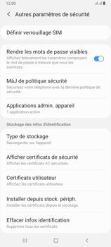 Samsung Galaxy A80 - Sécuriser votre mobile - Personnaliser le code PIN de votre carte SIM - Étape 6