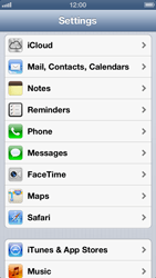 Apple iPhone 5 - Applications - Configuring the Apple iCloud Service - Step 3