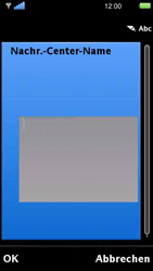 Sony Ericsson U5i Vivaz - SMS - Manuelle Konfiguration - 9 / 14
