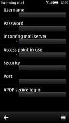 Nokia 700 - Email - Manual configuration - Step 17
