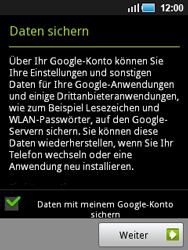 Samsung Galaxy Mini - Apps - Konto anlegen und einrichten - 0 / 0