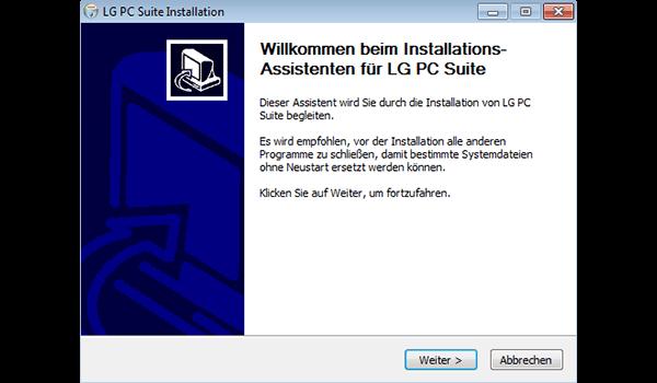 LG D955 G Flex - Software - Installieren von Software zur PC-Synchronisierung - Schritt 6