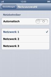 Apple iPhone 4S - Netzwerk - Manuelle Netzwerkwahl - Schritt 6