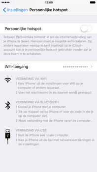 Apple iphone-7-plus-met-ios-10-model-a1784 - WiFi - Mobiele hotspot instellen - Stap 6
