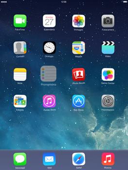 Apple iPad mini iOS 7 - Operazioni iniziali - Personalizzazione della schermata iniziale - Fase 3