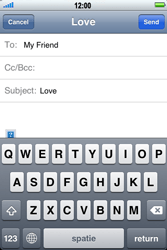 Apple iPhone 4 - Email - Sending an email message - Step 8