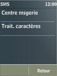 Nokia X3-02 - SMS - Configuration manuelle - Étape 6
