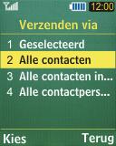 Samsung C3050 - contacten, foto