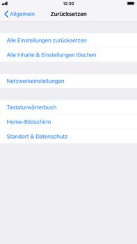 Apple iPhone 6 Plus - iOS 12 - Fehlerbehebung - Handy zurücksetzen - Schritt 7