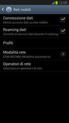 Samsung Galaxy Note II - Internet e roaming dati - Disattivazione del roaming dati - Fase 6