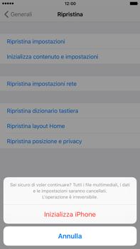Apple iPhone 6 Plus iOS 9 - Dispositivo - Ripristino delle impostazioni originali - Fase 8