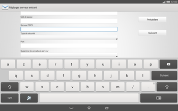 Sony Xperia Tablet Z2 LTE - E-mail - configuration manuelle - Étape 9