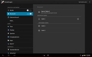 Sony Xperia Tablet Z LTE - Bluetooth - Geräte koppeln - Schritt 10
