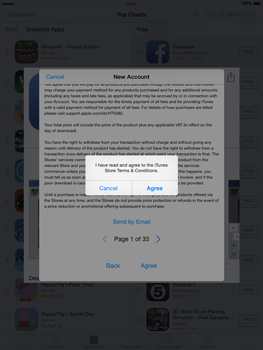 Apple iPad mini - iOS 8 - Applications - Setting up the application store - Step 11