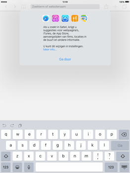 Apple iPad Air 2 iOS 9 - Internet - Internet gebruiken - Stap 4