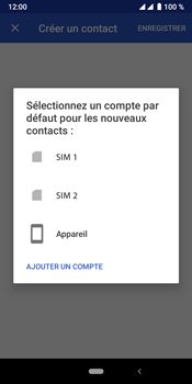 Crosscall Core X4 - Contact, Appels, SMS/MMS - Ajouter un contact - Étape 6