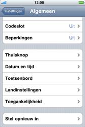Apple iPhone 4 - Instellingen aanpassen - Fabrieksinstellingen terugzetten - Stap 4