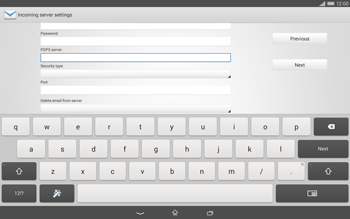 Sony Xperia Tablet Z2 LTE - E-mail - manual configuration - Step 9