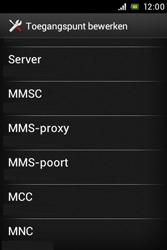 Sony ST21i Xperia Tipo - MMS - handmatig instellen - Stap 10