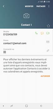 Samsung Galaxy Note 8 - Contact, Appels, SMS/MMS - Ajouter un contact - Étape 13